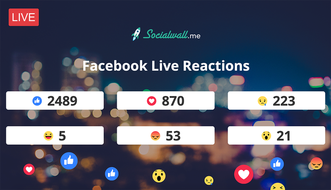 Capture and stream in real-time Facebook Live reactions (via SocialWallme) tutorial
