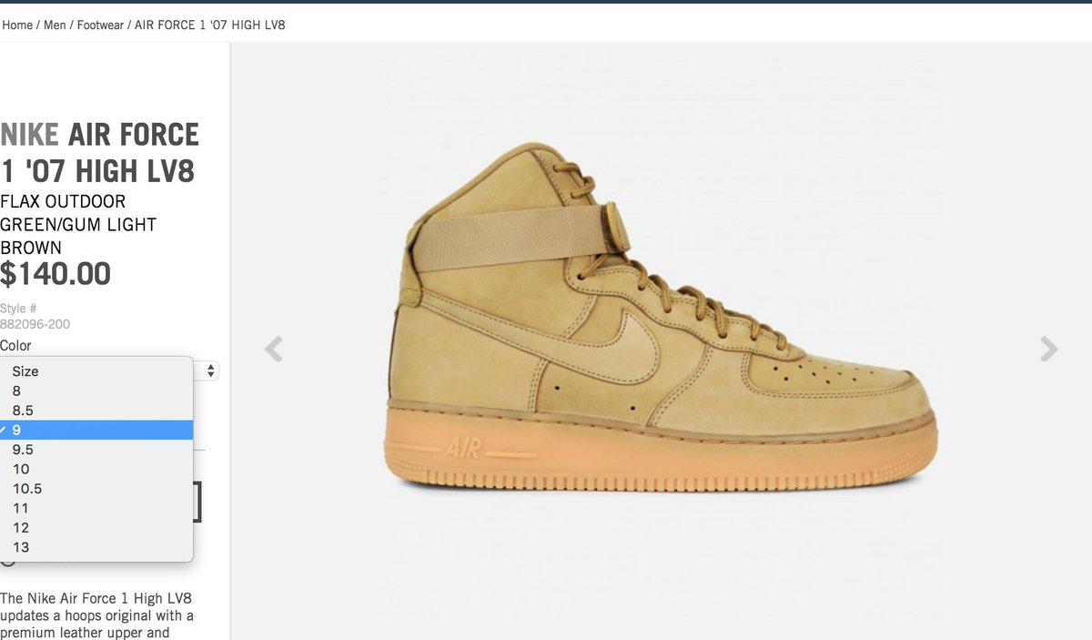 Nike Air Force 1 High Wheat Flax 882096 200 Restock On Sale