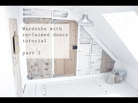 Wardrobe with reclaimed doors tutorial, part 1