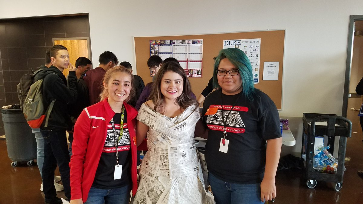 Orlando Hairston On Twitter Newspaper Fashion Design Competition For Tsa Tech Day Phills Hs Congrats To All Schools Eastlake Hs Socorro Hs Socorrohsstem Teamsisd Https T Co 6moeavjacm