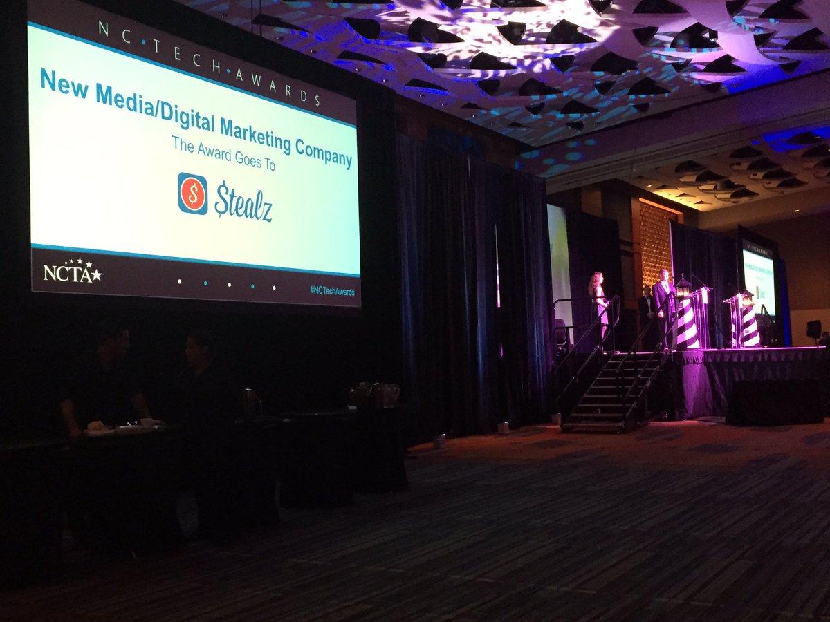Congrats @Getstealz winner of the #NCTechAwards New Media/Digital Media Company of the Year Award! https://t.co/6SjKEVaxvG