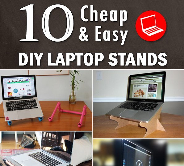 Check out these do-it-yourself laptop stands for your lap and workspace pleasure >> | diy