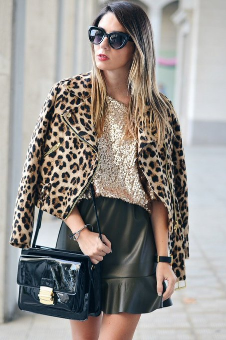 Leopard and gold via Ma Petite by Ana MaPetitebyAna ootd