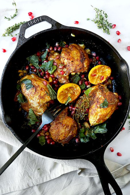 Curried Chicken With Pomegranate ://