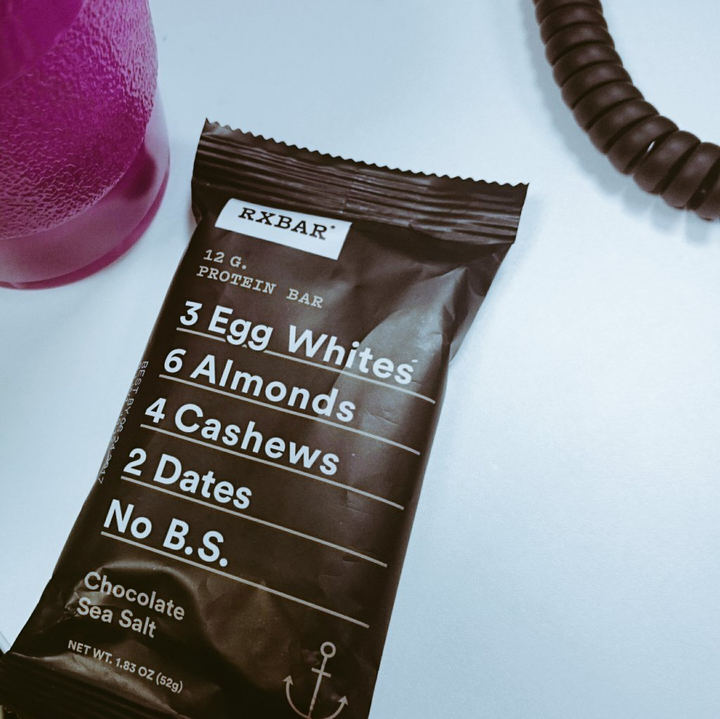 Holy buckets! This @RXBAR was #yummygoodness. So, so good. #Chocolate at work...and not afraid to use it! #Blogalicious8 #healthy #protein https://t.co/E4xLF5v5B2