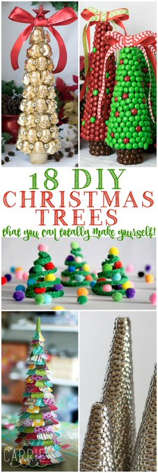 18 Christmas Tree Crafts DIY christmas crafts