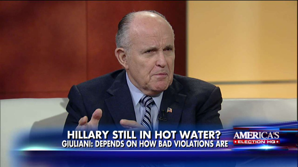Giuliani: Obama Should Not Pardon Hillary, Let the System Decide It @foxandfriends https://t.co/8TwQFu9Hy7