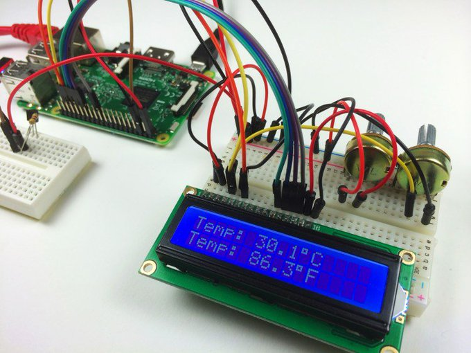 Raspberry Pi LCD Set Up and Programming in Python raspberrypi diy