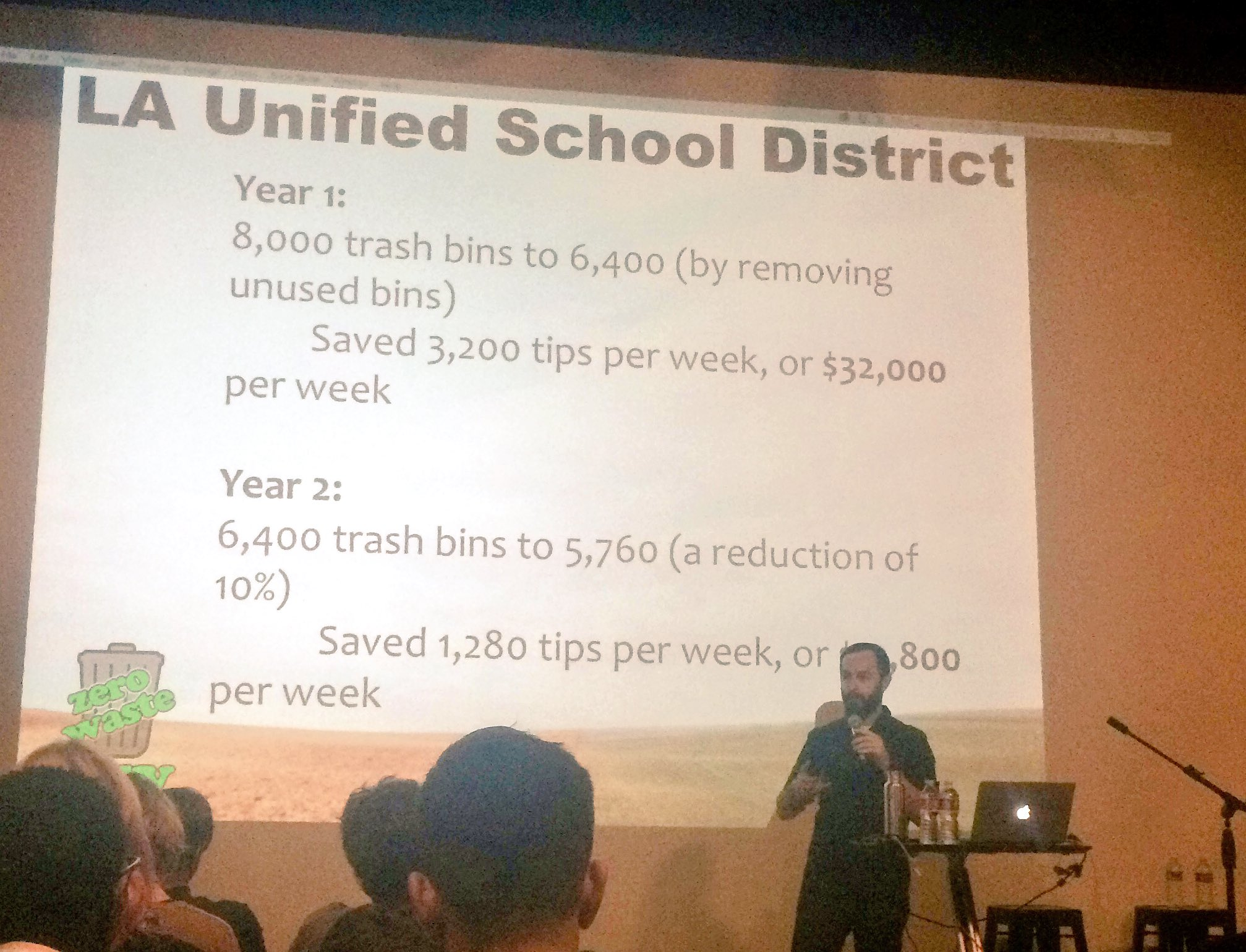 Avoiding waste saves money! @zerowasteguy1 saved @LASchools lots of 💸#wud16la https://t.co/MxIg2PPUYA