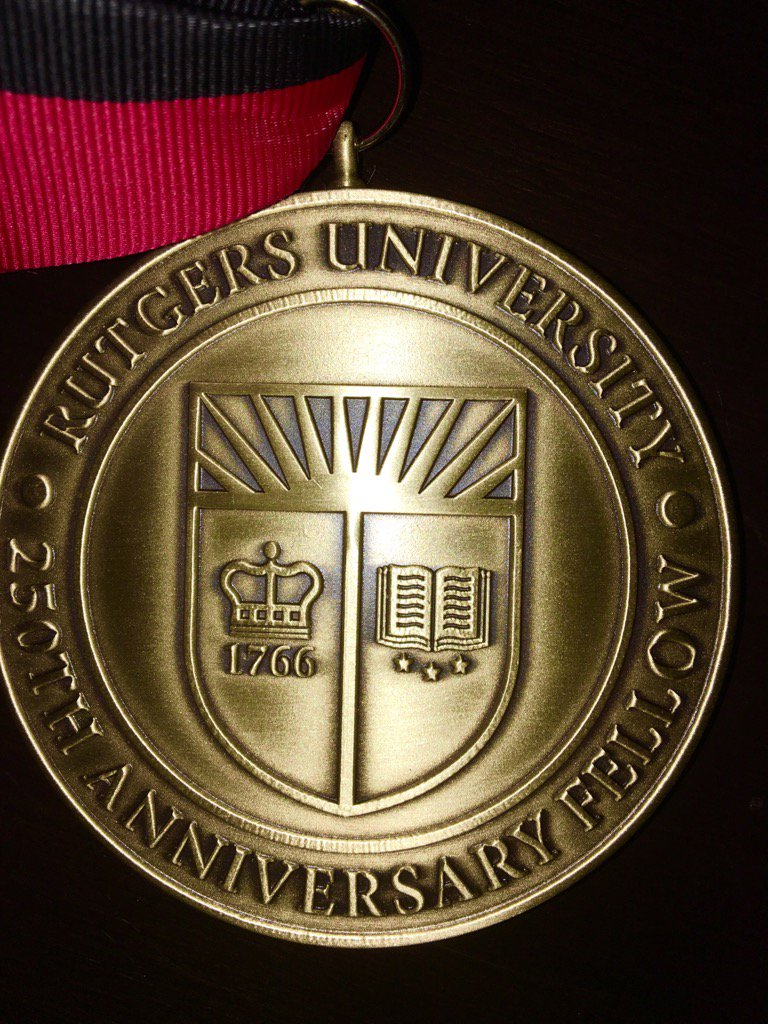 Happy 250th birthday to @RutgersU -Thanks for the great honor of being named a #Rutgers250 fellow with 80 other alums https://t.co/Nx19bogcoA