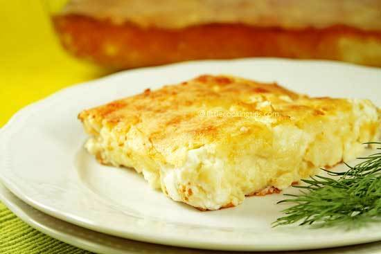 No-filo Greek yogurt cheese pie