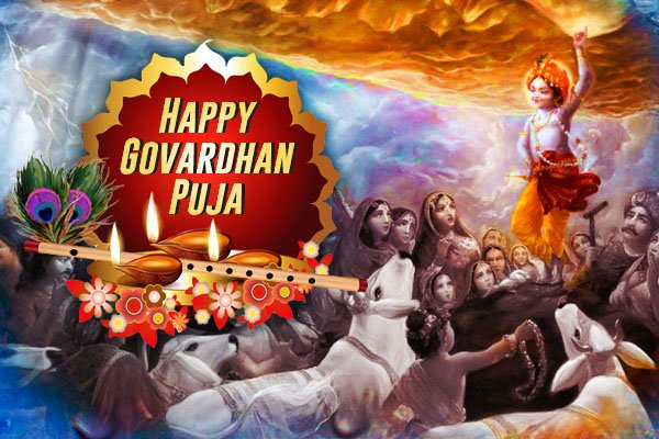 Govardhan Puja : IMAGES, GIF, ANIMATED GIF, WALLPAPER, STICKER FOR WHATSAPP & FACEBOOK
