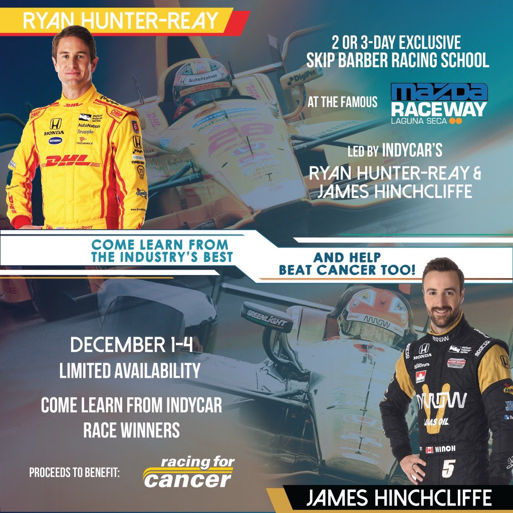 Learn how to race with the best @RyanHunterReay @Hinchtown at Laguna Seca @SkipBarberRS CALL TODAY AND PLS RT! https://t.co/zI4UEZVE6C