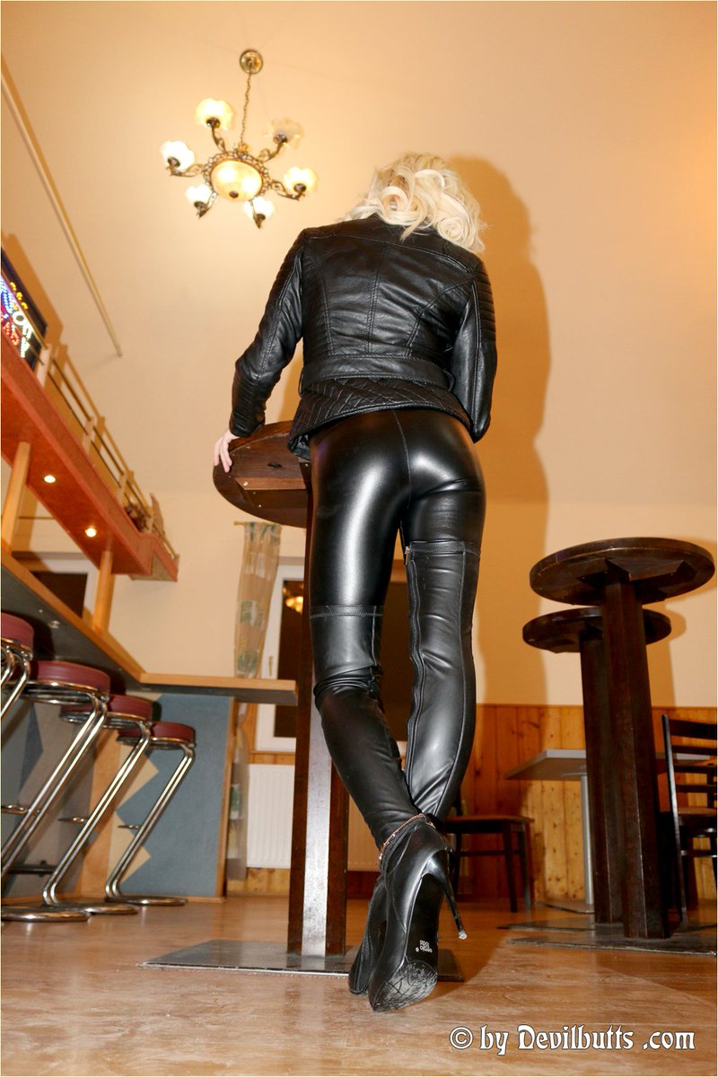 Black Leather Jeans Womens