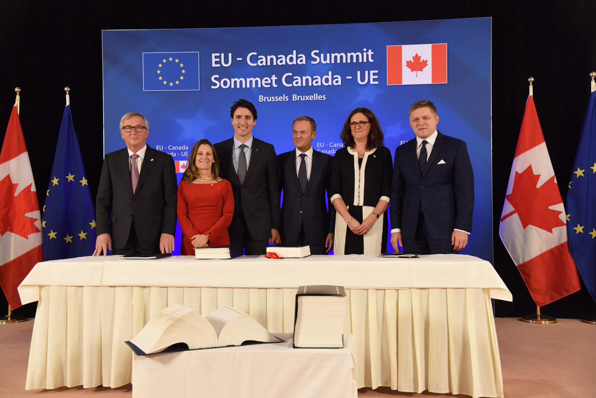 Done. #CETA is as of today the new golden standard in #trade agreements.