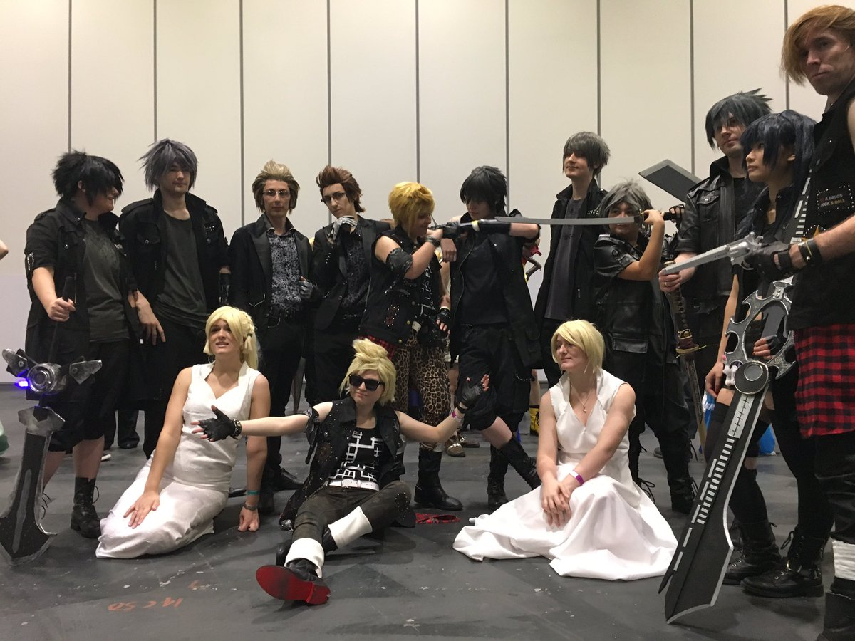 final fantasy xv on twitter thought we d gatecrash a ffxv cosplay
