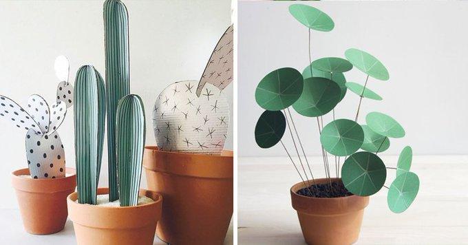 16 DIY pour raliser des plantes en papier