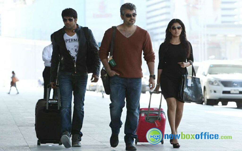 @NayantharaU my favorite pic still I have goosebumps while I watching again n again @arya_offl with #thala💪💪💪 waiting #aarambam2 https://t.co/l3LxvaPxPf