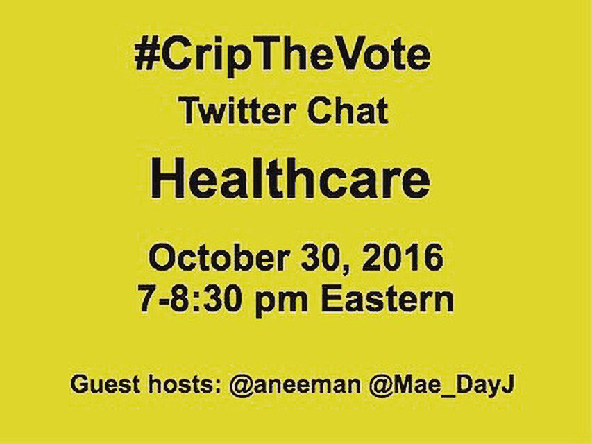 #THRIVEWithUs for #CripTheVote as we engage in a discussion about disability issues & #Election2016 - .@HillaryClinton.@realDonaldTrump https://t.co/Y6C3cojkMB