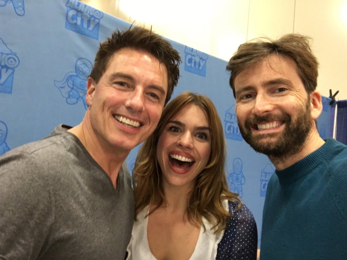 David Tennant, Billie Piper and John Barrowman) at Alamo City Comic Con fan convention - 29th October 2016