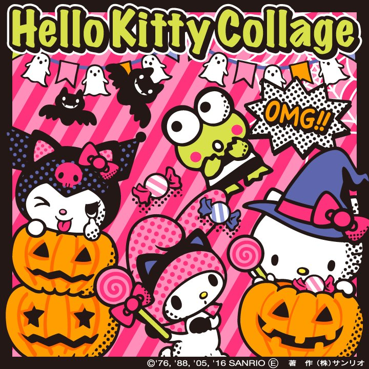 hello kitty on twitter halloween sanrio stamps and templates are here from hello kitty collage now available on appstore googleplay