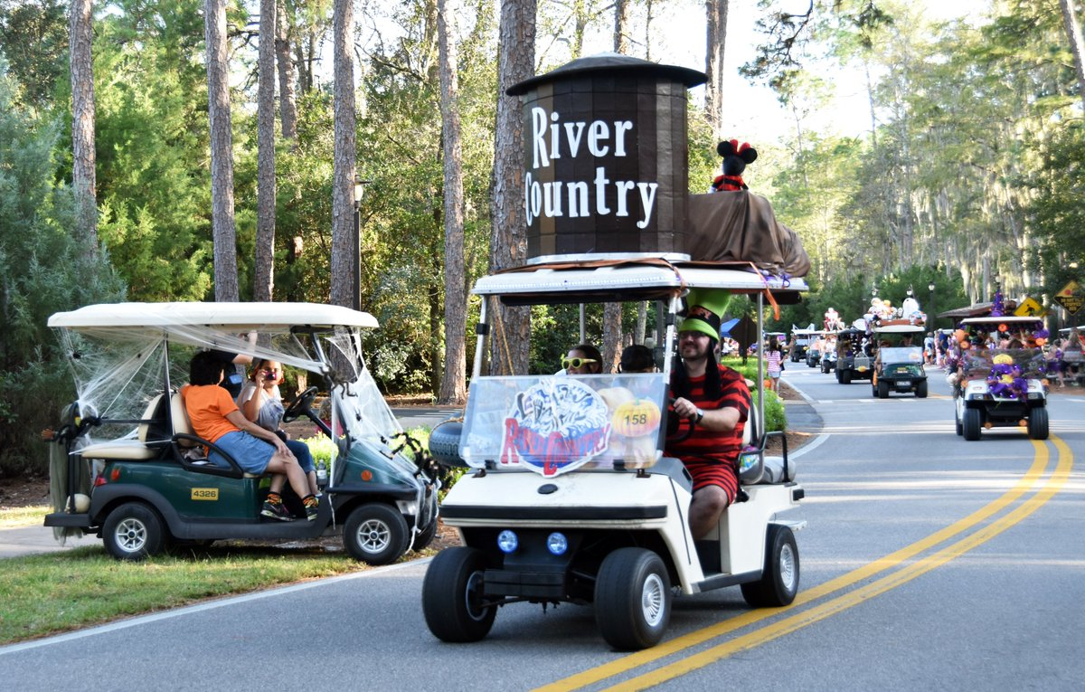 jeff lange on twitter video disneys fortwilderness halloween golf cart parade 2016 w chip dale ghostbusters