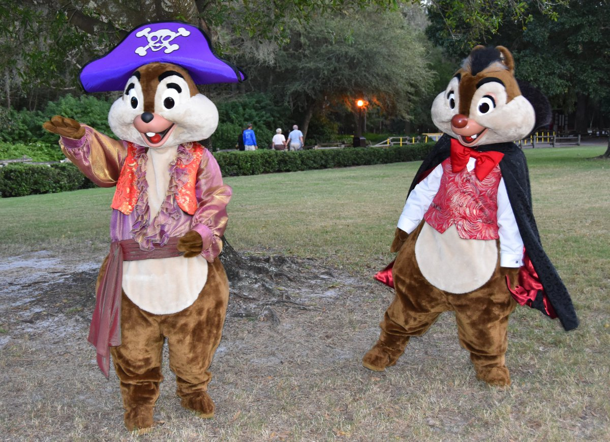 jeff lange on twitter video pirate chip and vampire dale dressed for halloween at disneys fortwilderness 2016 httpstcodlje6i1v7i chipanddale