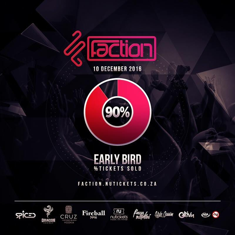 Early Bird tickets are 90% sold out. Buy your R150 ticket now before it becomes Phase 1 prices of R220!  Tickets https://t.co/Ugo1bUhVwB https://t.co/MUWy7U0XZV