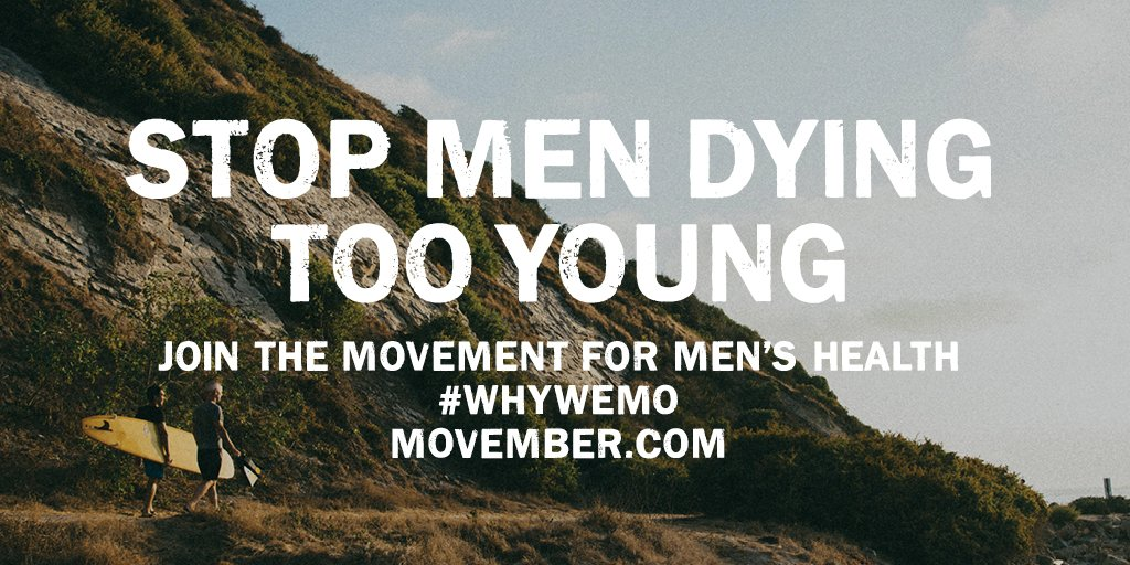 Why do you Mo? For your dad, mates, good times, men's health? Tweet it with #WhyWeMo this #Movember. https://t.co/uoPRaBbGDA