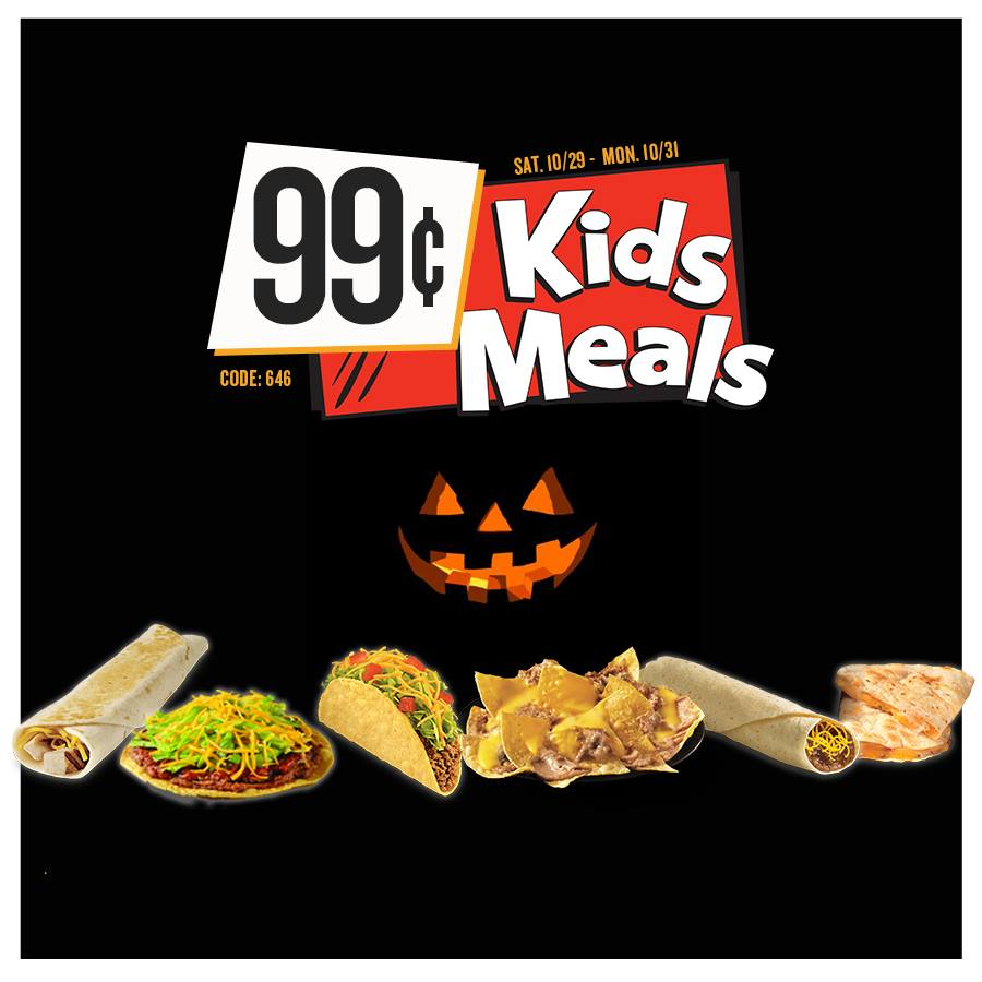 Taco Bueno On Twitter 99 Kids Meals The Promotion Ends Today
