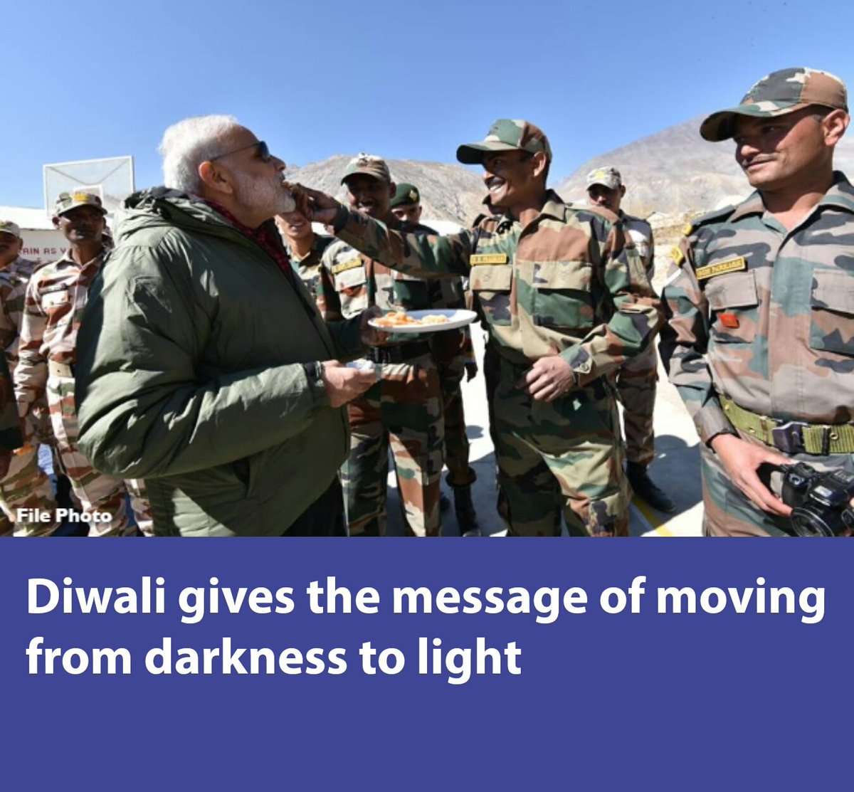 Diwali gives the message of moving from darkness to light  via NMApp #Diwali #diwaligreetings #DiwaliWithADifference