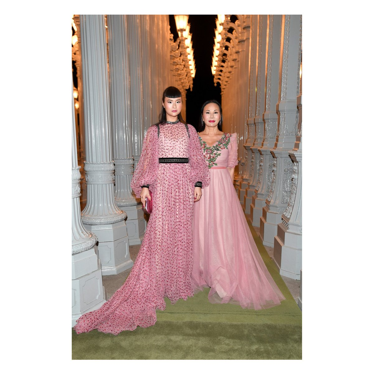Seen at tonight\'s @lacma\'s #artandfilm gala: asia chow and eva chow ...