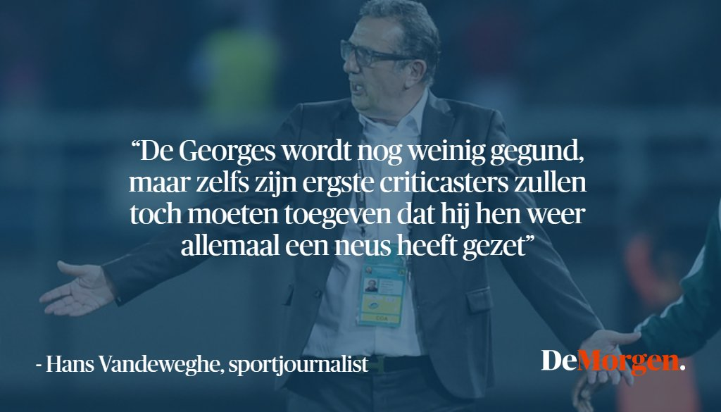 de morgen on quot quot bondscoach belgi 235 algerije