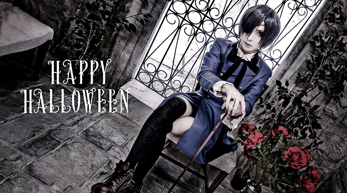 Happy Halloween !  黒執事のシエル・ファントムハイヴやってみた(。・_・。)/ 間もなくハロウィンが終わるね〜 #ハロウィン #コスプレ #仮装 #黒執事 #シエル #Versailles #Jupiter https://t.co/MtcVTTXULN