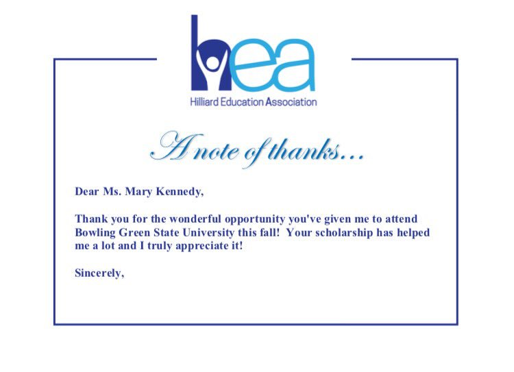 Our Final Four Thank You Notes From Our Scholarship Recipients! Great To  Hear From You All! Https://t.co/x5pJbXNjDB