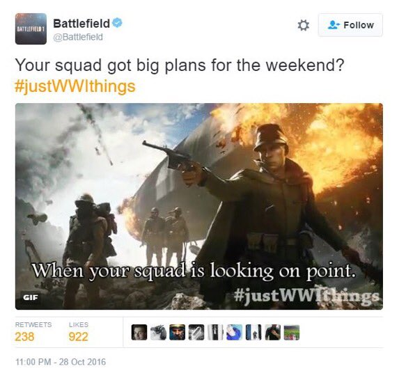 Battlefield's Twitter Account is pretty tasteless [Up: EA