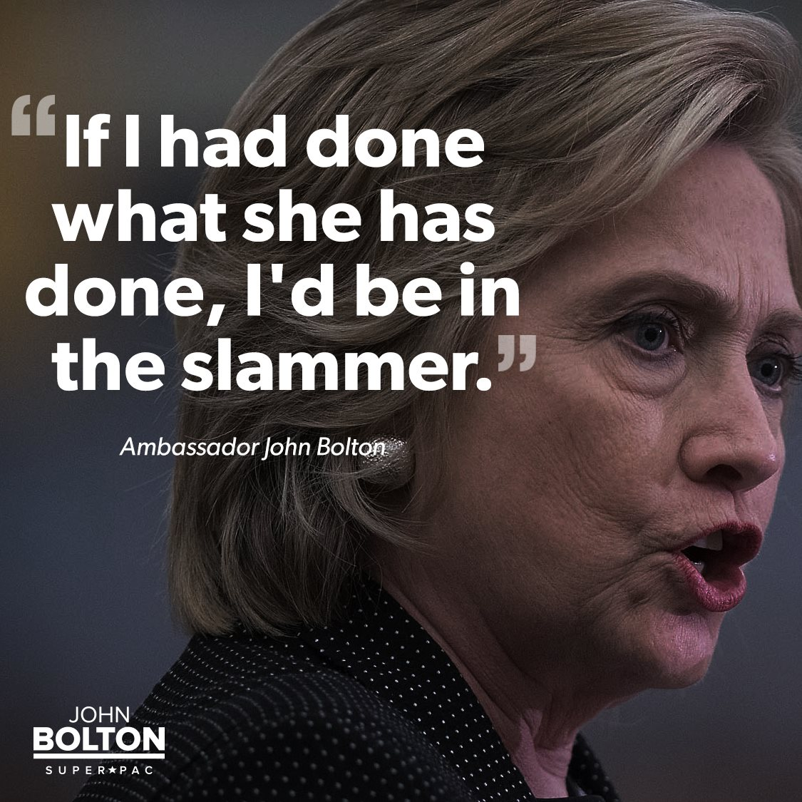 If I had done what @HillaryClinton has done, I'd be in the slammer. #ClintonEmails https://t.co/Yyao6XzTh3