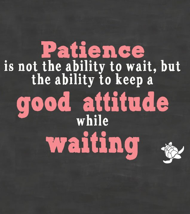 """Patience is not the ability to wait, but the ability to keep a good attitude while waiting."" - Joyce Meyer https://t.co/8PVfaqhvoF"