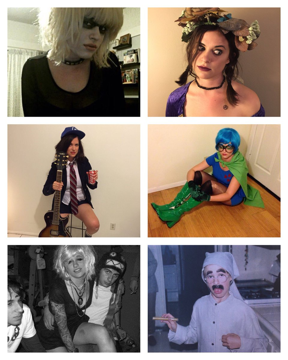 allie goertz on twitter costumes of halloween past pris janeane garofalo in cable guy angus young milhouse as fallout boy courtney love groucho