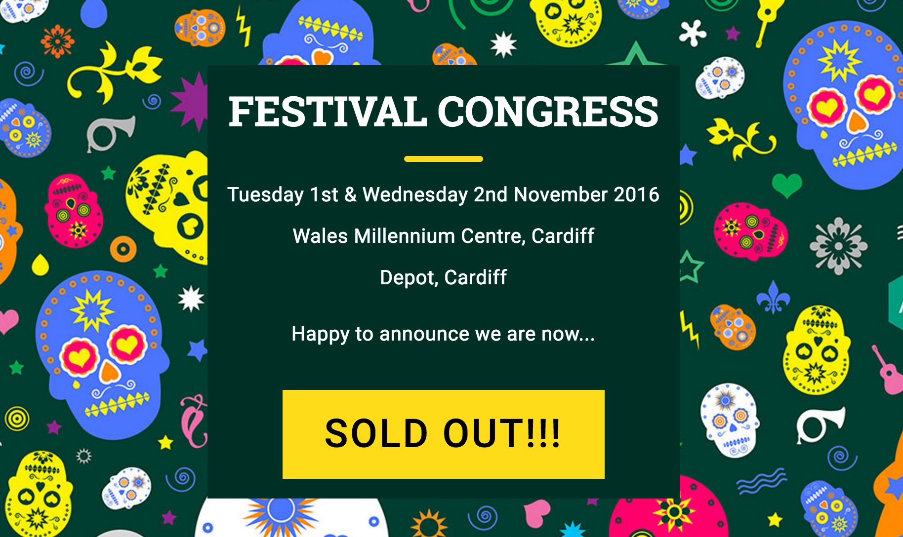 WE'VE SOLD OUT!!! See you tomorrow 🎉 #FestCongress https://t.co/sGG8UF50dI