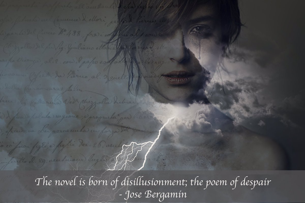 'The novel is born of disillusionment; the poem of despair'J.Bergamin. Sometimes writing has a tragic side #amwriting #amreading #writeslife