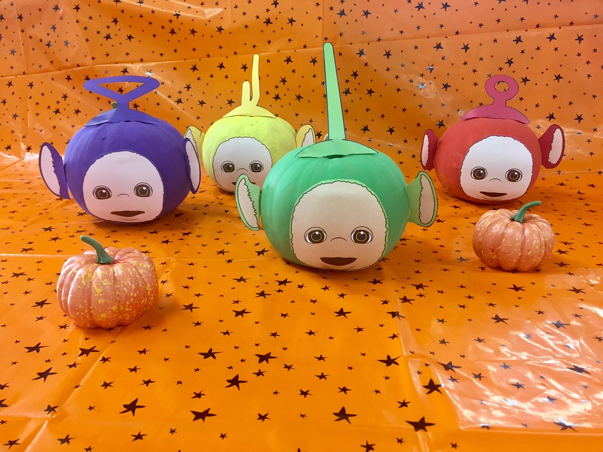 teletubbies on twitter wishing our teletubbies fans a happy halloween painting is a quick fun way to jazz up your pumpkin