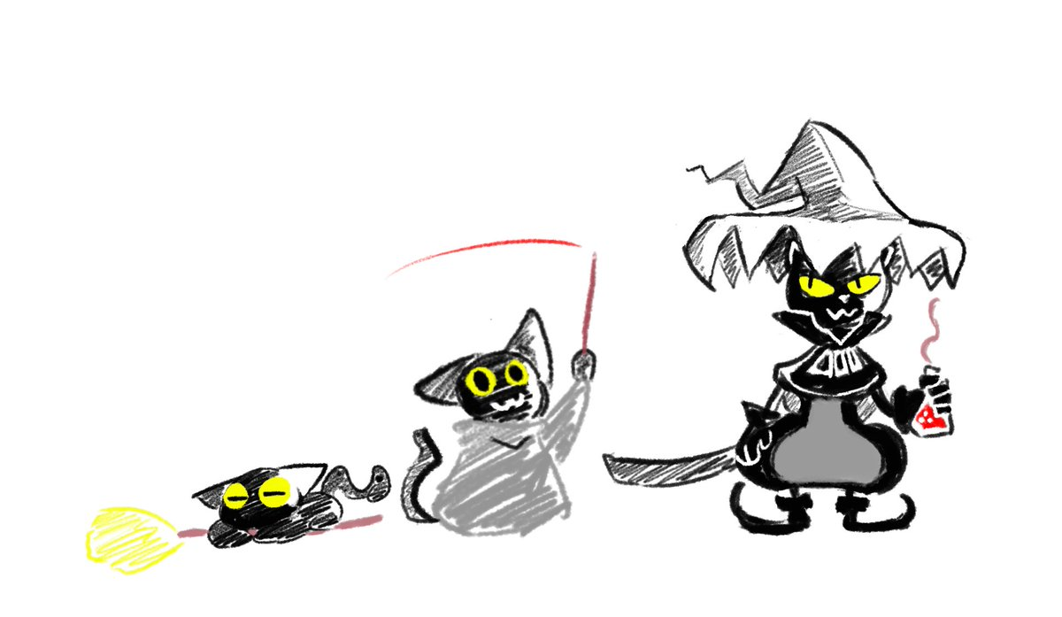 rum on twitter so i doodled momo from the recent google doodle and tuyoki cat witch from potion shop tuyoki cat witch from potion shop