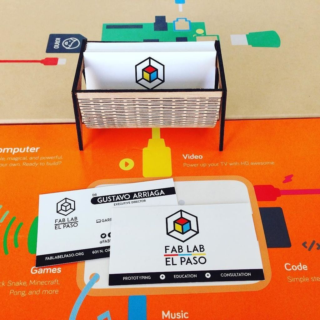 Fablab El Paso On Twitter New Business Cards For Fablabep With