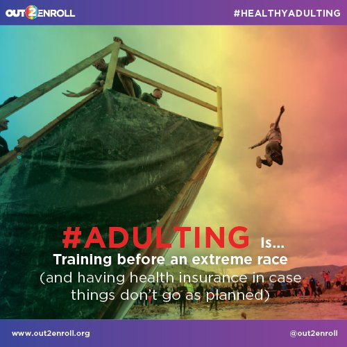 A1: Getting health insurance is, sadly, part of #HealthyAdulting - make sure you're covered, just in case #MillennialMon https://t.co/xRPcpv0Fqv