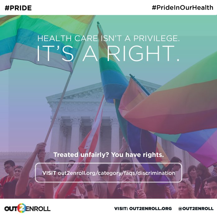A2: Plus, under #ACA, #LGBTQ millennials can't be discriminated against in coverage or care! Health care is a right! #MillennialMon https://t.co/dYa8W2vvZF