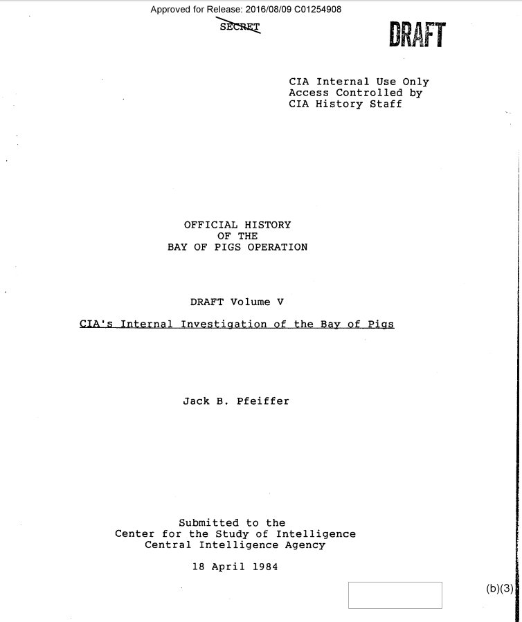 .@NSArchive wins release of #CIA Bay of Pigs Volume 5 after years of #FOIA lawsuits https://t.co/ph3uLgyr1L https://t.co/KXRX9aSvkv