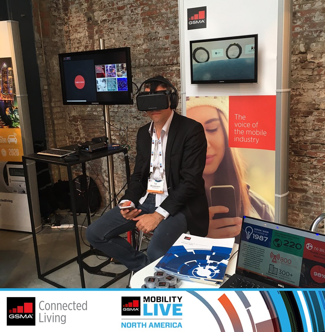 Experience virtual reality first hand at the #ConnectedLiving booth at #GSMAMobilityLive https://t.co/A62hJSkz62 #VR