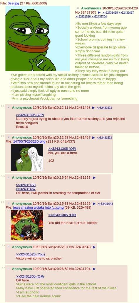 4chan greentext on twitter feel the pain roastie scum