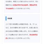 娯楽費の月平均にびっくりw女性が20000円で男性が5000円?